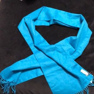 Authentic coach wool cashmere muffler scarf teal